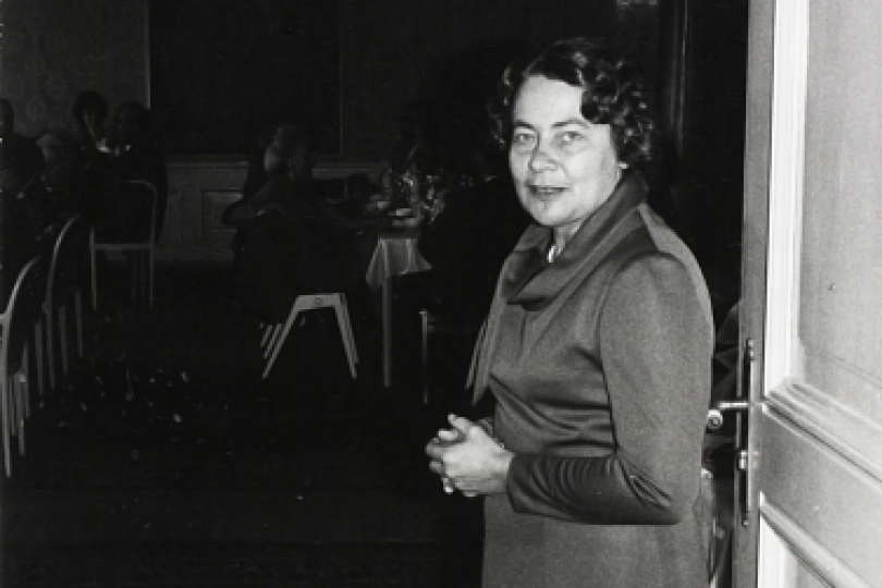 Else Kröner at a reception given by Armin Klein, the mayor of Bad Homburg, in the spring of 1975.