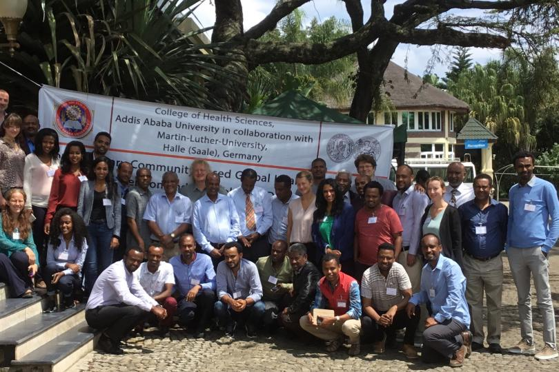 Partners from Addis Abeba and Halle at a joint planning workshop in Ethiopia in 2018