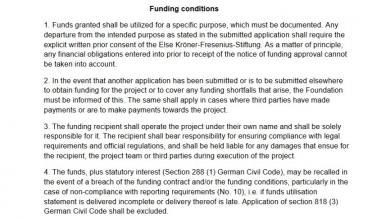 Funding Conditions