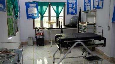 1.	One of the newly equipped delivery rooms in Narsahi, Nawalparasi, South Nepal