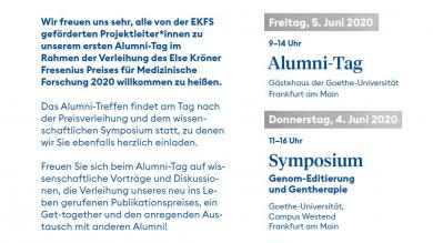Alumni-Tag am 5. Juni 2020
