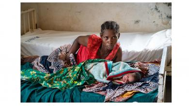 A mother and her new-born in Ncumpe health centre (Namuno district)